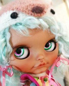 Badrabbit custom blythe #97 for adoption ooak art doll