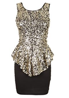 The perfect going out peplum Gold Sequin Top, Black Sequins, Jersey Mini, Long Plaid Skirt, Girl Outfits, Fashion Outfits, Latest African Fashion Dresses, Homecoming Dresses, Nice Dresses