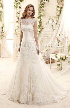 Col haut robe de mariée princesse 2015 dentelle [#ROBE209546] - robedumariage.com