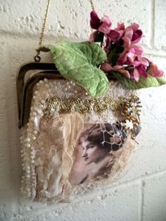 Delores beaded purse by Lilla on Etsy
