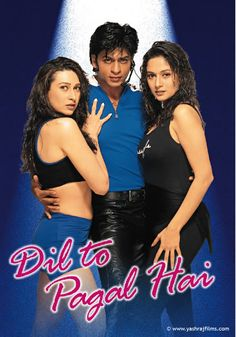 Dil Pagal Hai | NAMASTE DOSTI!!: DIL TO PAGAL HAI - EL CORAZÓN ESTÁ LOCO [I'm watching this one tonight, as I must believe LOVE is possible. And I wished to say something of ALI ZAOUA, but I will just ruin the film. What happens in the first minutes explains everything.] *madhuri's breasts are out of control. She needs to wrap them tiddies up. *the film is 3 HOURS LONG
