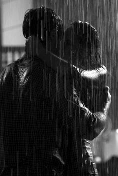 Kiss me in the rain. Kiss me long. Kiss me hard. Kiss me so passionately that it stays burned in my memory. Kissing In The Rain, Dancing In The Rain, Couple Kissing, Couple In Rain, Couple Pics, I Love Rain, Rain Dance, Kiss Rain, Rain Gif