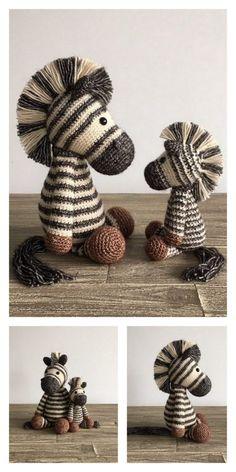 Amigurumi Zebra Free Pattern – Amigurumi Free Patterns And Tutorials Crochet Zebra Pattern, Crochet Patterns Amigurumi, Crochet Dolls, Knitting Patterns, Yarn Projects, Knitting Projects, Crochet Projects, Crochet Crafts, Yarn Crafts