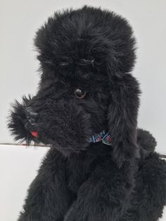 Vintage Poodle 1950s Articulated Poseable Black Stuffed Animal by ArthursTreasureChest on Etsy