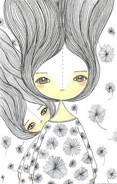 175 366 Project Celebrating Motherhood Mother by Soraceballos Portrait Illustration, Cute Illustration, Illustration Fashion, Art Illustrations, Fashion Illustrations, Mother Art, Mother And Child, Mothers Day Drawings, Zantangle Art