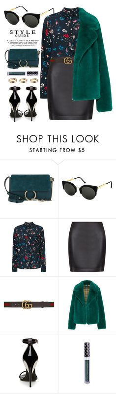 """""""Dinner Date"""" by smartbuyglasses ❤ liked on Polyvore featuring Chloé, RetroSuperFuture, Balenciaga, La Perla, Gucci, Burberry and GREEN"""