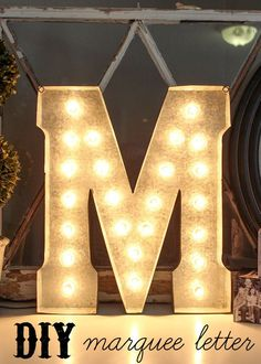 DIY Marquee Letter t