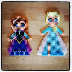 Anna and Elsa - Frozen perler beads by epicquests4crafts