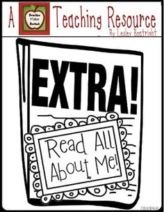 Extra!  Extra!  Read All About Me! Freebie