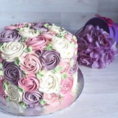 Pastel rose swirls for some www. Pastel rose swirls for some Pretty Cakes, Beautiful Cakes, Amazing Cakes, Cute Cakes, Beautiful Flowers, Rose Swirl Cake, Rose Cake, Decoration Patisserie, Bakery Decor
