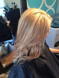 Dimensional blonde with baby lowlights. Sandy blonde hair