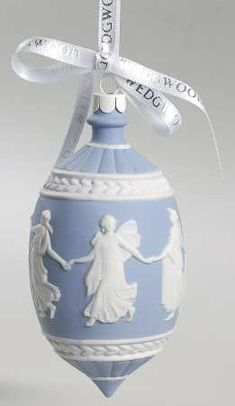 Neoclassical Relief - Boxed in the Jasperware Ball Ornaments pattern by Wedgwood China