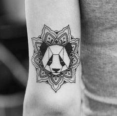 panda, tattoo, and mandala Bild