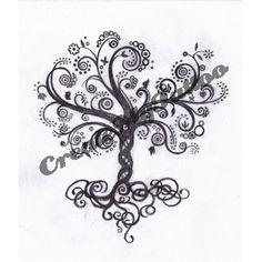 pomegranate tree tattoo design
