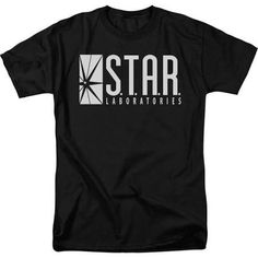 The Flash Tv Series S.T.A.R Labs Adult Black T-Shirt
