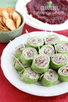 Cranberry Turkey Pinwheels have layers of cream cheese spicy-sweet cranberry…