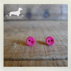 Pink Passion. Itty Bitty Button Post Earrings (Small, Simple, Bright, Pink, Cute, Simple, Neon, Hot Pink, Gift for Her Under 10)