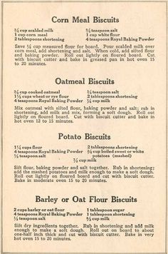 War Time Recipes: Preparedness Cooking Skills from the Past - Page 4 of 12 Recipe Booklet Page Booklet Page 4 Retro Recipes, Old Recipes, Vintage Recipes, Cookbook Recipes, Bread Recipes, Cooking Recipes, Muffin Recipes, Family Recipes, War Recipe