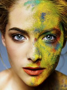 Color-I love body art with colored paint!