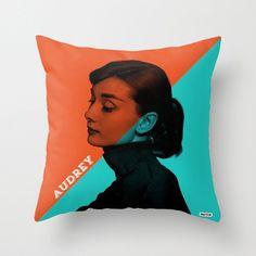 Audrey Hepburn Throw Pillow Cover