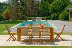 Salon de jardin FUNDY vert anis avec parasol offert | OOGarden - Les ...