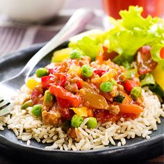 rice with vegies Fried Rice, Thai Red Curry, Dairy Free, Healthy Recipes, Healthy Foods, Clean Eating, Vegetarian, Yummy Food, Chicken