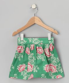 Take a look at this Green & Pink Rose Anastasia Skirt - Toddler & Girls by Pears + Bears by Kayce Hughes on #zulily today!