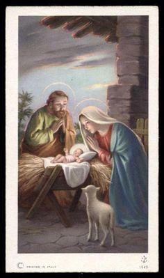 """santino-holy card""""""""ediz. FB n.1643 NATIVITA'"""