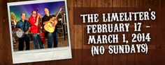 """****** GET """"THE LIMELITERS"""" CD FREE WHILE SUPPLIES LAST******  THE LIMELITERS will be at the MINING CAMP RESTAURANT FEB 17th to MARCH 1st. They will be performing music that defined an era and continues to lift our spirits and make us want to sing along: AMERICAN FOLK MUSIC.  And while supplies last, THE LIMELITERS would like you to take home one of their CD's so you can enjoy their music whenever you like. RESERVATIONS: 480 982 3181 www.limeliters.com  ~  www.miningcamprestaurant.com"""