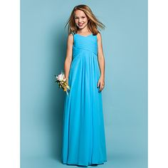 Sheath/Column Scoop Chiffon Junior Bridesmaid Dress (551558) – in the Regengy color??
