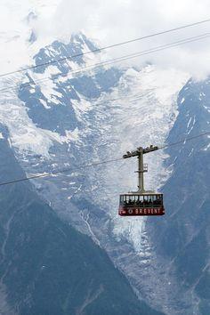 Chamonix, France - Cable car to Mont Blanc Beautiful World, Beautiful Places, Chamonix Mont Blanc, Ski Holidays, Rando, Voyage Europe, French Alps, Jolie Photo, Rhone