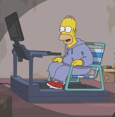 Your idea of staying in shape looks something like this: | 29 Signs You Are Homer Simpson