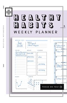 Self Care Planner Inserts Work Planner, Planner Tips, Meal Planner, Weekly Planner, Healthy Lifestyle Motivation, Healthy Lifestyle Tips, Healthy Habits, Organisation Hacks, Organising Hacks