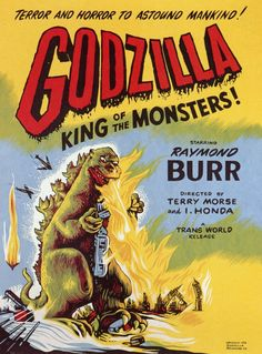 Godzilla, King of the Monsters 1956 Movie Poster Mini Poster Style AA. Available here: http://www.classichorrorposters.com/shop/11x17-inch-mini-posters/godzilla-king-of-the-monsters-1956-movie-poster-mini-poster-style-aa/