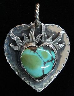 *** Unbelievable savings on gorgeous jewelry at http://jewelrydealsnow.com/?a=jewelry_deals *** Richard Schmidt turquoise heart pendant