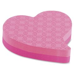 Post-it® Super Sticky Notes - Printed Heart Shaped - 3 L x 3 W - 2 Pads/Pkg