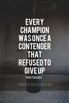 Every champion was once a contender that refused to give up. -Rocky Balboa #calstrength #winning #motivation #weightlifting