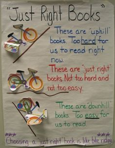 Just right books.  I love this so much because it easily explains the zone of proximal development to kids!