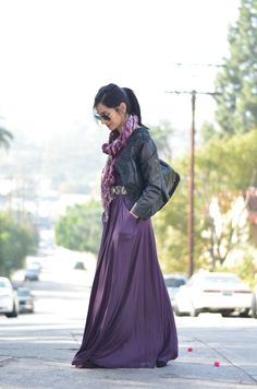 maxi dress for winter -  www.avintagesplendor.com