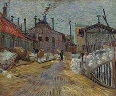 The Factory, Summer 1887. Oil on canvas, 46 x 55.6 cm. The Barnes Foundation, Philadelphia.