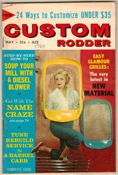 Custom Rodder May 1960 Old Vintage Car Magazine Classic Hot Rod Glamour Grilles