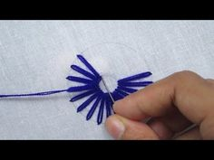 Hand Embroidery, Amazing Flower Embroidery, Lazy Daisy Stitch - YouTube Hand Embroidery Videos, Embroidery Stitches Tutorial, Flower Embroidery Designs, Simple Embroidery, Modern Embroidery, Embroidery Patterns, Kutch Work, Lazy Daisy Stitch, Decoupage Tutorial