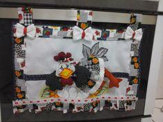 cortina para fogão galinha 3D | Nuza Artes | Elo7