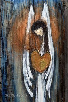 Anioł Wielkiego Serca - doskonały jako podziękowanie Pary Młodej dla Rodziców