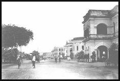 Strand Road in Rangoon, c.1900