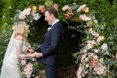Real Wedding – Suzi & Elliot - Ceremony Styling - Floral Arch - I Do