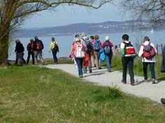 Wanderung am 29. März: Die Wandergruppe immer in der Nähe des Bodensee, wie hier in Münsterlingen