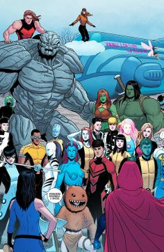 Young Avengers by Jamie McKelvie. Best part!! Ahura is there!! Julian is there!! I'm all about this