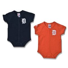 Detroit Tigers 2-Pack Onesie Set by Majestic Athletic