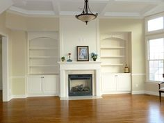 fireplace with built in bookshelves - Bing Images